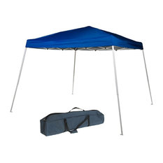 Folding 10'x10' Pop Up Instant Canopy With Carry Bag, Blue