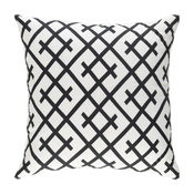 """Scandinavian 18"""" x 18"""" Solid Black Woven Throw Pillow + Cover Only"""