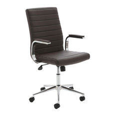 Ezra Executive Leather Office Chair, Brown