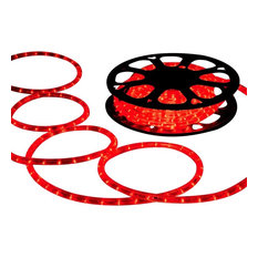 DELight 150' 2-Wire LED Rope Light Holiday Decor Indoor/Outdoor, Red