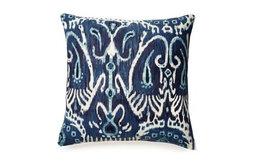 Cerva Navy Blue Ikat Pillow