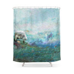Society6 Cow Skull Shower Curtain Contemporary Shower