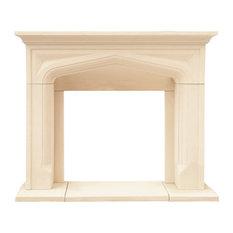 Chateau Series Pisa Cast Stone Fireplace Mantel
