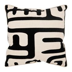 "Safavieh Maize Pillows, Set of 2, Black, 18""x18"""