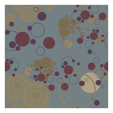 Burgundy Circles Shelf Paper Drawer Liner, 36x12, Matte Paper