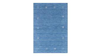 "Hand-knotted Luribaft Gabbeh Riz Sky Blue Wool Rug, 4'0""x5'11"""