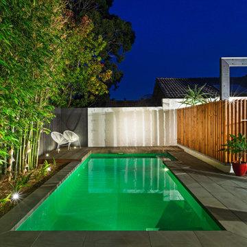 Small backyard swimming pool