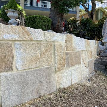 Sandstone Ballast Wall