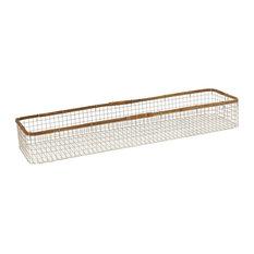 32 Inch Large Basket   Grey/Natural/Food-Safe Finish - Decor - Decorative
