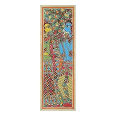 Celestial Lovers Madhubani Painting