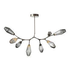 Aalto Modern Branch 8-Piece, Gilded Brass, Optic Rib Smoke