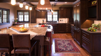 1920's Tudor Gets an Open Concept Kitchen, Dining, and Family area