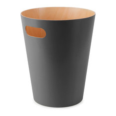 Umbra Woodrow Waste Bin, Charcoal