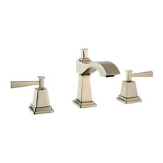 Plaza Widespread Faucet Handles and Drain, Polished Nickel
