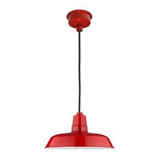 "12"" Oldage LED Pendant Light, Cherry Red"