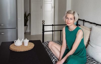 В гостях: Сканди-«однушка» с балконом для кота