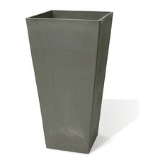 "Algreen Valencia Square Planter, 16.25""x31.5""H, Charcoal"