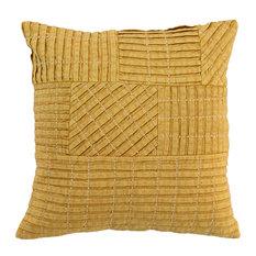 """Kosas - Tammie Pleated 18"""" Throw Pillow by Kosas Home, Yellow - Decorative Pillows"""