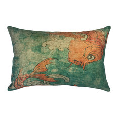 Koi Linen Pillow