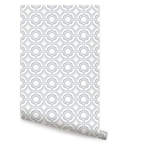 Daisy Peel-and-Stick Wallpaper, Gray
