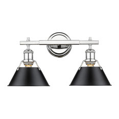 Orwell 2 Light Bathroom Vanity Light in Chrome