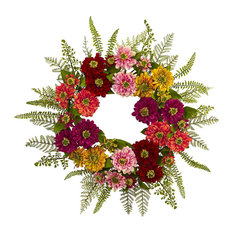 Nearly Natural, Inc. - Mixed Flower Wreath - Wreaths and Garlands