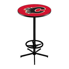 Calgary Flames Pub Table 36-inchx42-inch by Holland Bar Stool Company