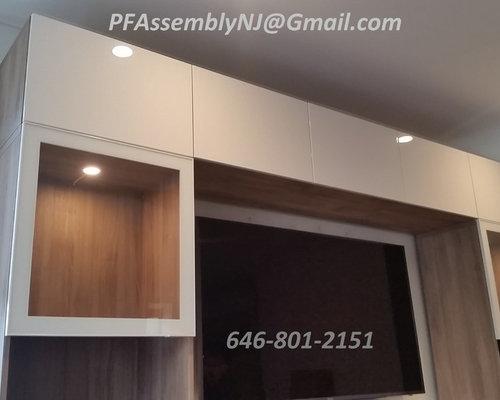ikea besta wall unit + tv ~ install,