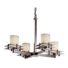 Metropolis 4-Light Chandelier, Brushed Nickel