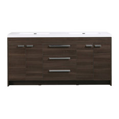 "Eviva Lugano 72"" Gray Oak Modern Vanity With Double Sink"