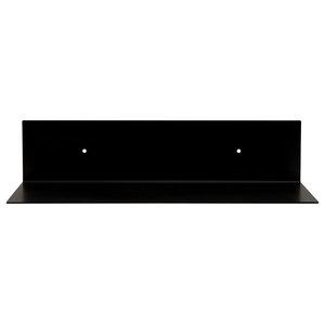 Black Square Steel Wall Shelf