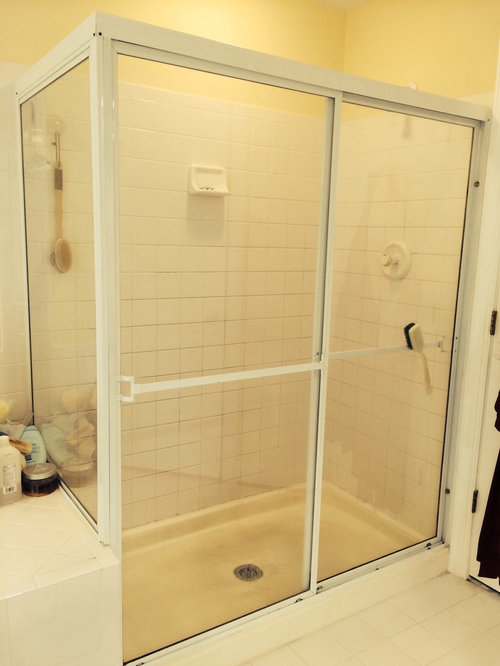 Replacing Existing Shower Pan Considering Tile Vs Acrylic Shower Pan - Acrylic tiles for bathrooms