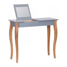 Lilo Medium Scandinavian Dressing Table, Dark Grey