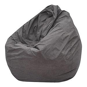 The Big Pear Bean Bag Chair, Gray