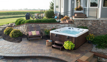 Master Spas: Auburn Backyard Stone Patio