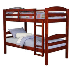 Double Twin Bunk Bed, Cherry