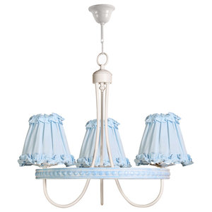 Children's 3-Light Ceiling Lamp, Sky Blue