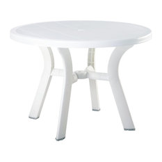 Compamia Truva Outdoor Dining Table, White