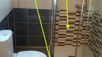 baño con suelo de vinilo