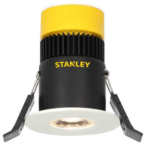 Stanley Narva IP65 Fire Rated Fixed LED Downlighter, White