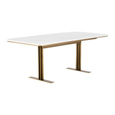 """Ambrosia Dining Table, Marble, 79"""""""
