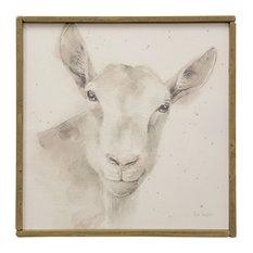 Lamb Farm Animal Art, Canvas Print with Handpainting
