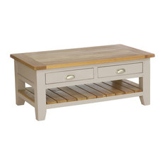 2-Drawer Rectangular Coffee Table, Putty