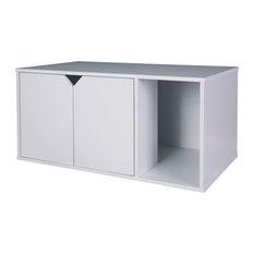 Finn Litter Box Enclosure, White