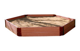"One Inch Series 7ft.x8ft.x11"" Composite Hexagon Sandbox Kit"