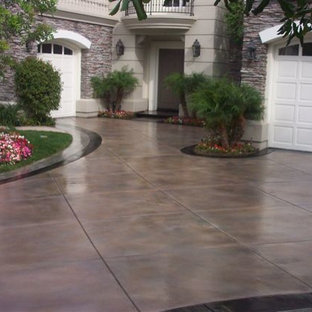 Stained Concrete Driveway Houzz
