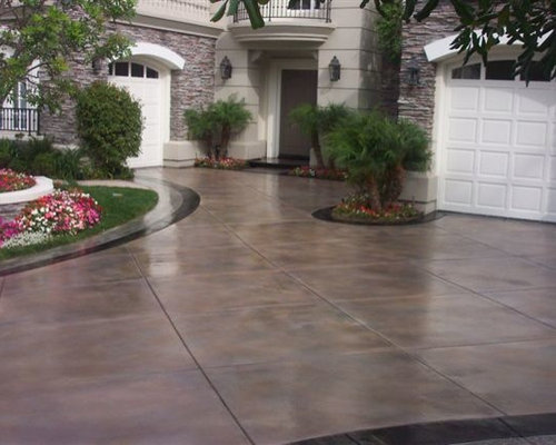 Houzz | Stained Concrete Driveway Design Ideas & Remodel Pictures