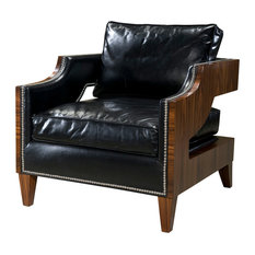 Art Deco Rosewood and Leather Club Chair