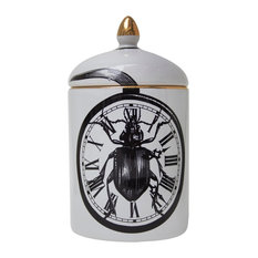 Beetle Clock Ceramic Pot