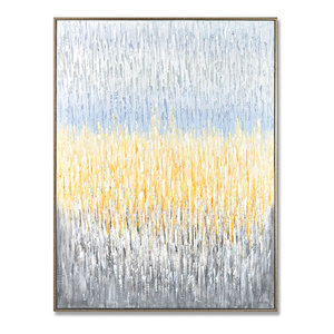 MOTINI Abstract Canvas Wall Art Framed Hand-Painted Textured